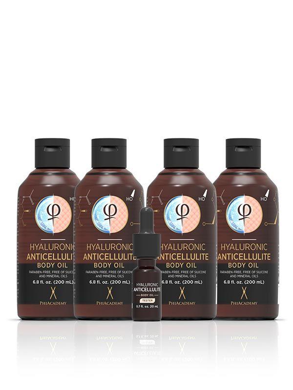 Hyaluronic Anticellulite Body Oil 200ml 4pcs