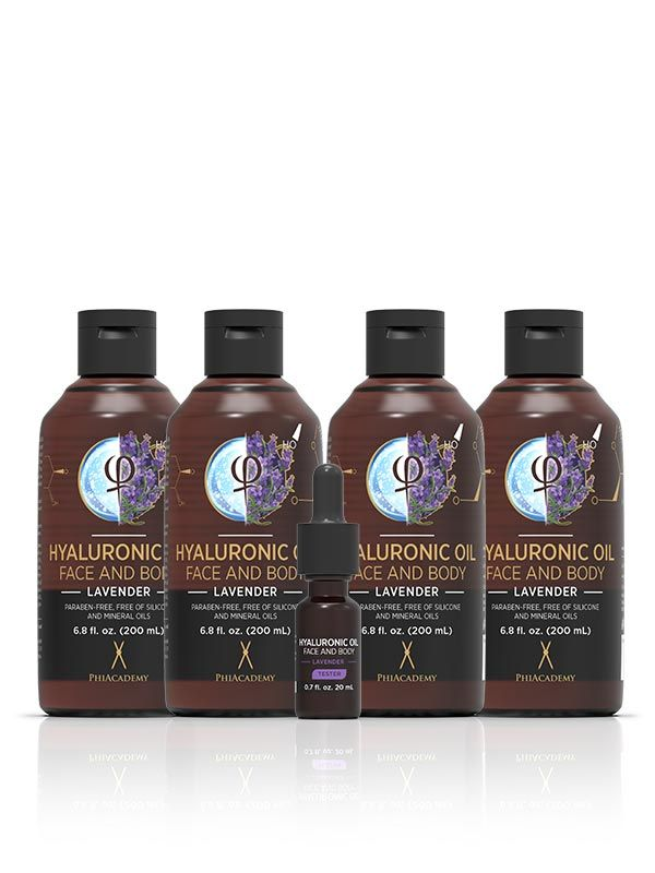 Hyaluronic Oil - Lavender 200ml 4pcs
