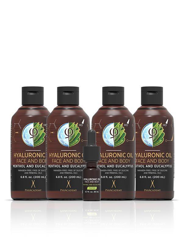 Hyaluronic Oil - Menthol and Eucalyptus 200ml 4pcs