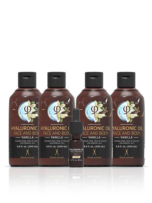 Hyaluronic Oil - Vanilla 200ml 4pcs
