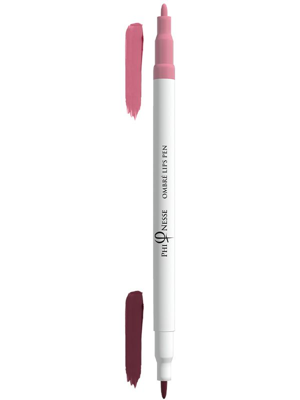 PhiNesse Ombre Lips Pen  Red Plum - Soft Pink 02